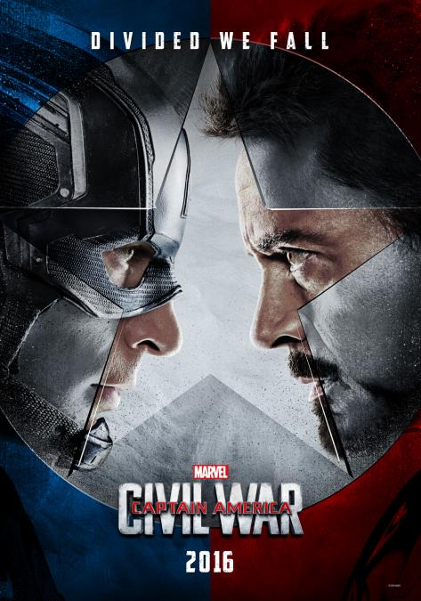 Captain America and Iron Man facing off