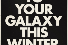 Star Wars: The Force Awakens Logo and Tagline 'coming to your galaxy this Winter' on a black background