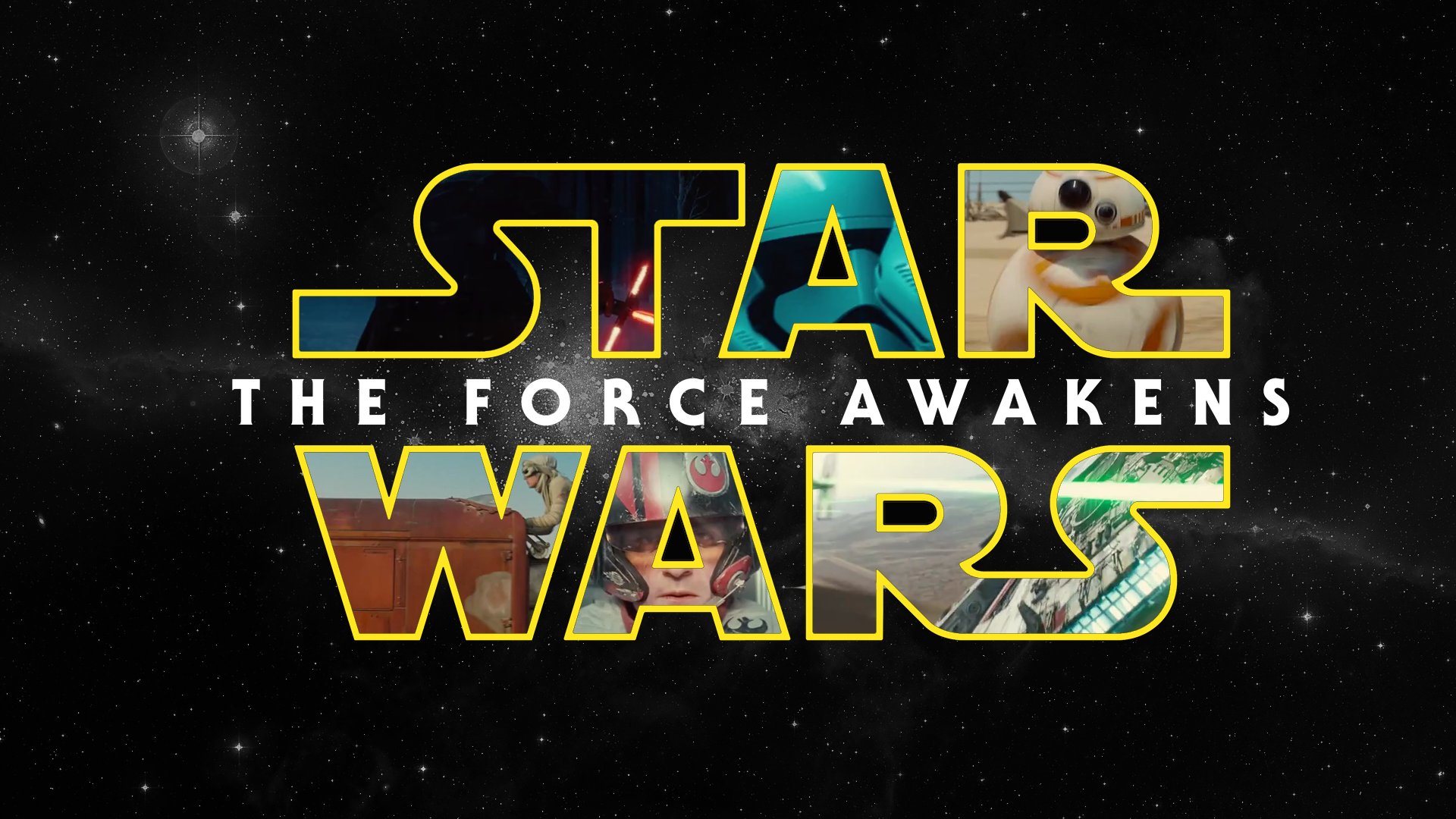 Star Wars: The Force Awakens Logo on a black background