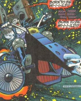 Lobo on his space cycle