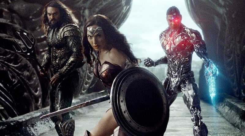 Wonder Woman, Aquaman and Cyborg ready for battle