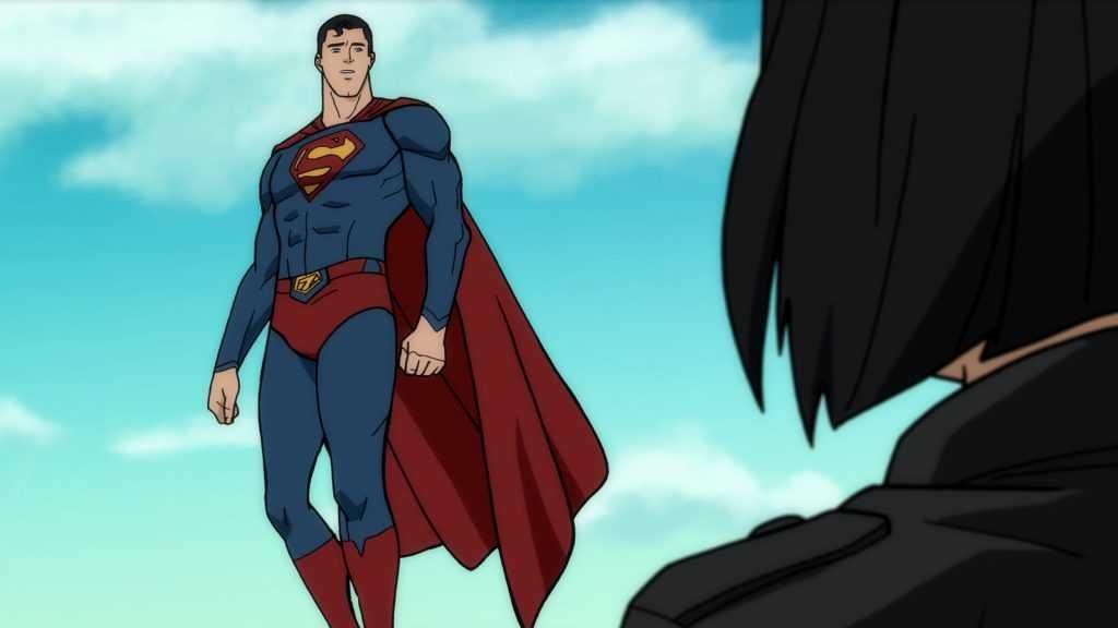 Darren Criss as Superman and Alexandra Daddario as Lois Lane in  Superman: Man of Tomorrow.