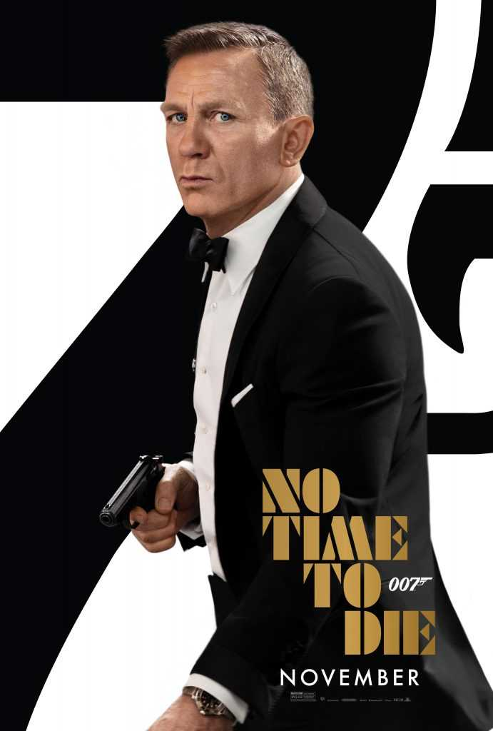 Daniel Craig as James Bond in the new No Time to Die Poster