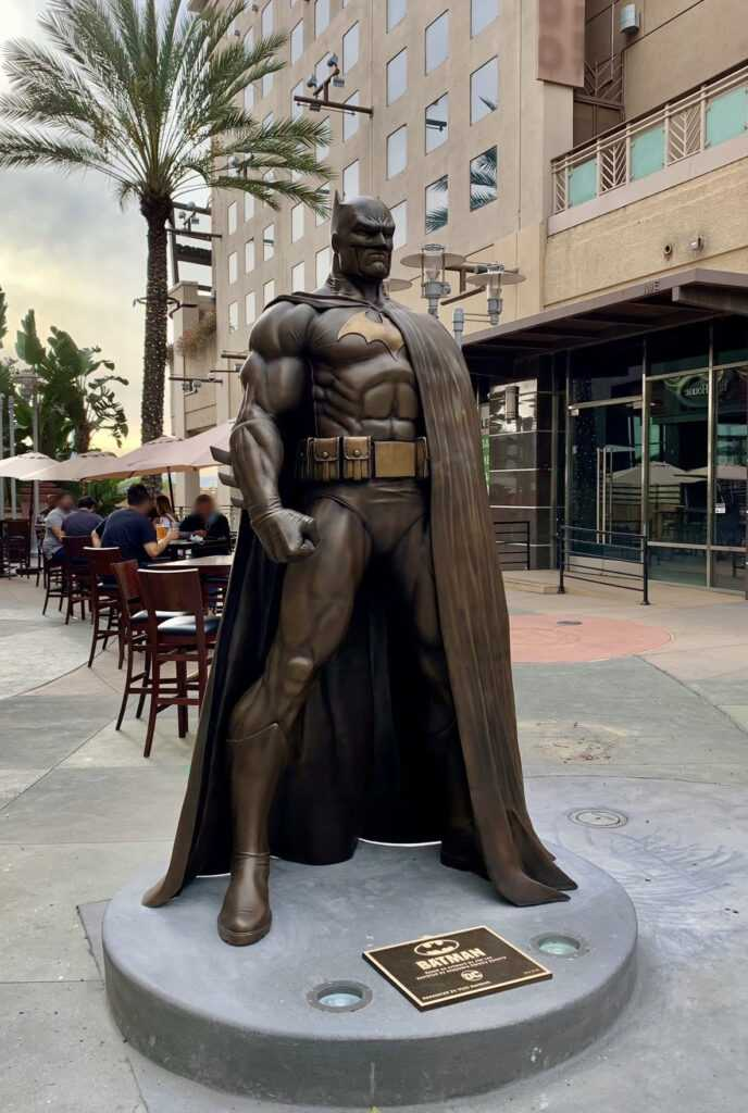 The giant Batman statue recently revealed at Burbank