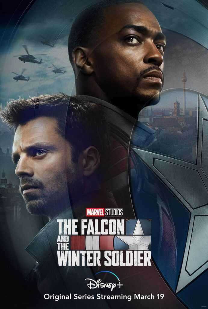 Anthony Mackie and Sebastian Stan front and centre on the The Falcon and The Winter Soldier poster